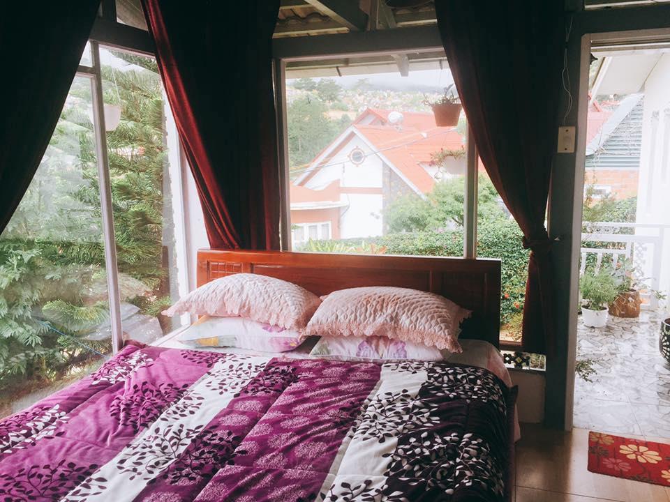 Phòng ngủ êm ái, thoáng đãng giữa thiên nhiên
