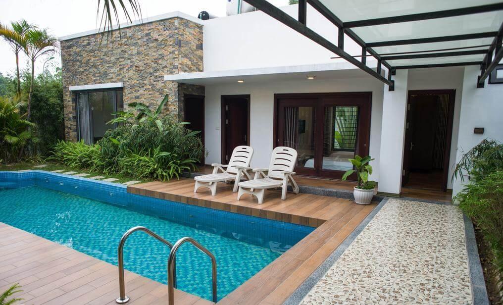 Không gian mát rượi - Villa tại sóc Sơn, Hà Nội