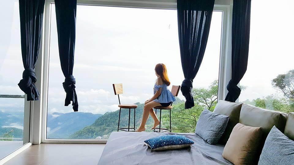 Ô cửa kính đầy mộng mơ tại Pine Forrest -