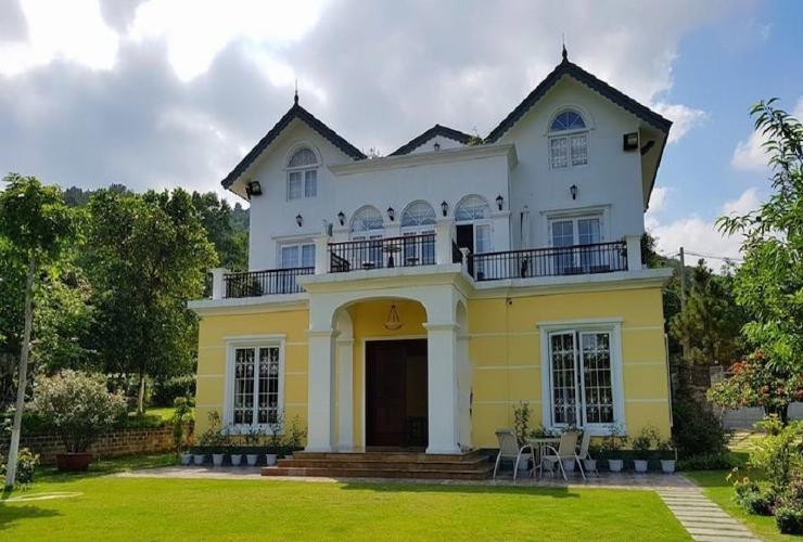 Ngôi biệt thự mini tới tone vàng - trắng, Villa tại sóc Sơn, Hà Nội