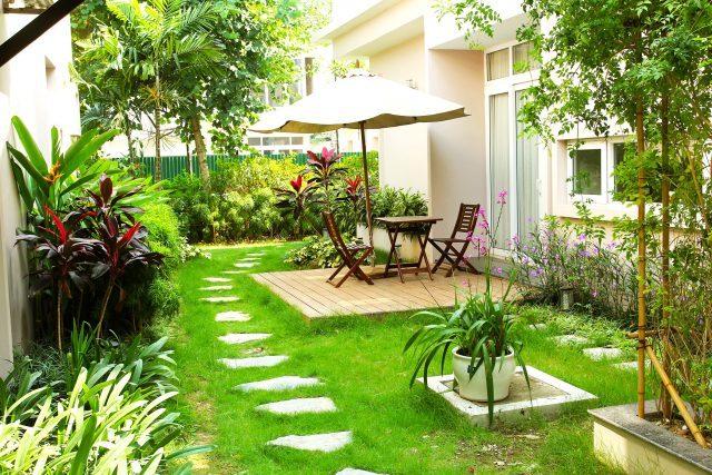 Khu vườn nhỏ xinh tại Xanh villas - villa tại Thạch Thất, Hà Nội