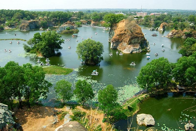 Khu du lịch Bửu Long nhìn từ trên cao